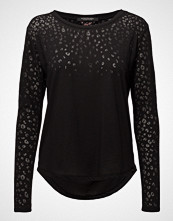 Scotch & Soda Long Sleeve Burn-Out Tee With Placement And All-Over Animal