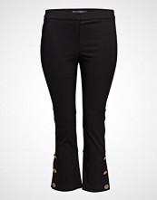 Violeta by Mango Cropped Button Pants