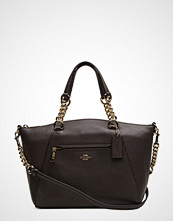 Coach Polished Pebble Lthr Chain Prairie Satchel