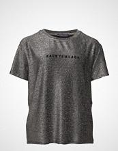 Violeta by Mango Metallic Message T-Shirt