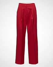 Mango Pleat Textured Trousers
