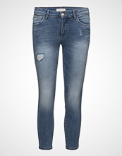 Wrangler Skinny Crop Damaged Blue