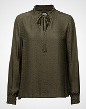 Saint Tropez High Neck Blouse W Smock