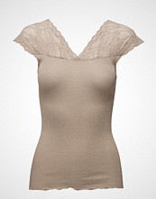 Rosemunde Silk Top Regular W/Lurex And Lace