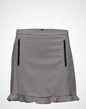 Mango Ruffled Vichy Skirt