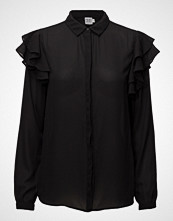 Saint Tropez Shirt W Ruffle Shoulder Detail
