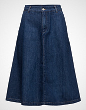 Gant A-Line Denim Midi Skirt