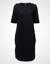 Scotch & Soda Longer Length Jersey Dress With Lace Applique