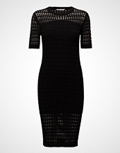 T by Alexander Wang Float Stitch Lace Short Sleeve Dress
