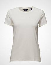 Gant Cott/Ela C-Neck Ss T-Shirt T-shirts & Tops Short-sleeved Hvit GANT