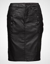 Cream Carla Coated Skirt