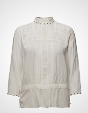 Scotch & Soda Embroidered Top With Small Studs In Neckline