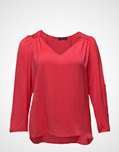 Violeta by Mango Ruched Satin Blouse