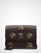 Coach Cross Stitch Floral Print Bowery Crossbody- With Glitter