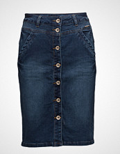 Cream Mindy Denim Skirt