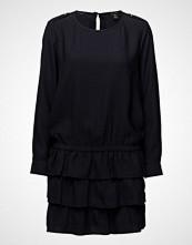 Scotch & Soda Silky Feel Drop Waist Dress With Ruffle Skirt
