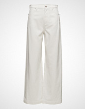3.1 Phillip Lim Wide Lg Denim Pant W Zipper Vide Bukser Hvit 3.1 PHILLIP LIM