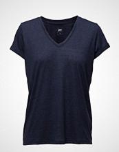 Lee Jeans V Neck Tee Medieval Blue