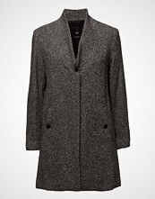 Mango Herringbone Flecked Coat