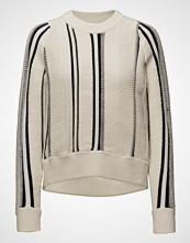 3.1 Phillip Lim Textured Cotton Stripe Crewnk High Low Po