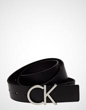 Calvin Klein Ck Adj.Logo Belt 3.5 Belte Svart CALVIN KLEIN