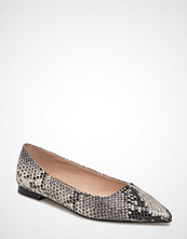 Mango Snake-Finish Flat Shoes