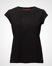Coster Copenhagen T-Shirt W. Burn-Out Wing T-shirts & Tops Short-sleeved Svart COSTER COPENHAGEN