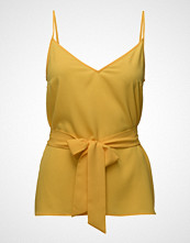 French Connection Dalma Crepe Light Strappy V-Neck Top