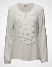 Cream Sibel Flounce Blouse
