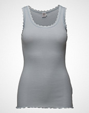 Saint Tropez Rib Tank Top With Lace - Basic