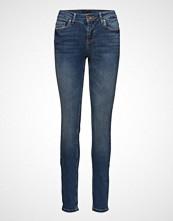 Pulz Jeans Mia Highwaist Skinny Skinny Jeans Blå PULZ JEANS