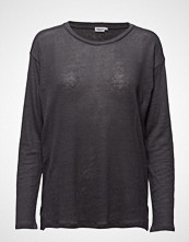 Filippa K Relaxed Long Sleeve Linen Tee T-shirts & Tops Long-sleeved Grå Filippa K