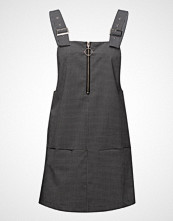 Mango Checkered Pinafore Dress