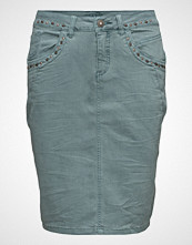 Cream Mila Twill Skirt