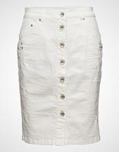 Cream Fry Denim Skirt