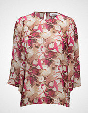 Rodebjer Maine Print T-shirts & Tops Long-sleeved Rosa RODEBJER