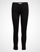 2nd One Nicole 006 Crop, Moon Black Satin Split, Jeans