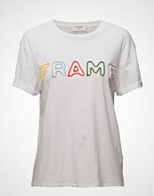 FRAME Rolled Frame Tee T-shirts & Tops Short-sleeved Hvit FRAME