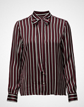 Gant O1. Vertical Striped Bow Blouse