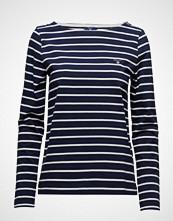 Gant Breton Stripe Boatneck Jumper T-shirts & Tops Long-sleeved Blå GANT