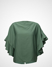 ÁERON Back Buttoned Frilled Sleeve Top
