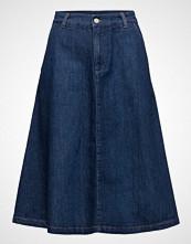 Gant A-Line Denim Midi Skirt
