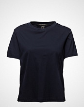 Scotch & Soda Boxy Fit High Neck Tee In New Clean Jersey Quality