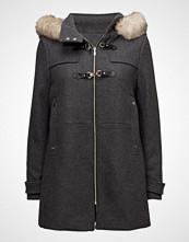 Mango Faux Fur Hooded Coat