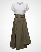 3.1 Phillip Lim Ss Dress W Jersey Tee Knelang Kjole Hvit 3.1 PHILLIP LIM