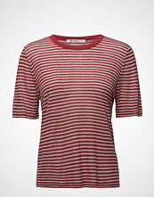 T by Alexander Wang Striped Slub Jersey Tee In Mini Stripe