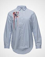 Violeta by Mango Embroidery Striped Shirt