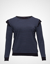 Violeta by Mango Ruffle Striped Sweater
