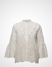by Ti Mo Broderie Anglaise Long Sleeve Blouse