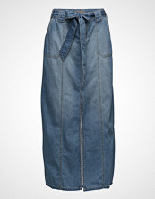 Cream Helena Denim Skirt